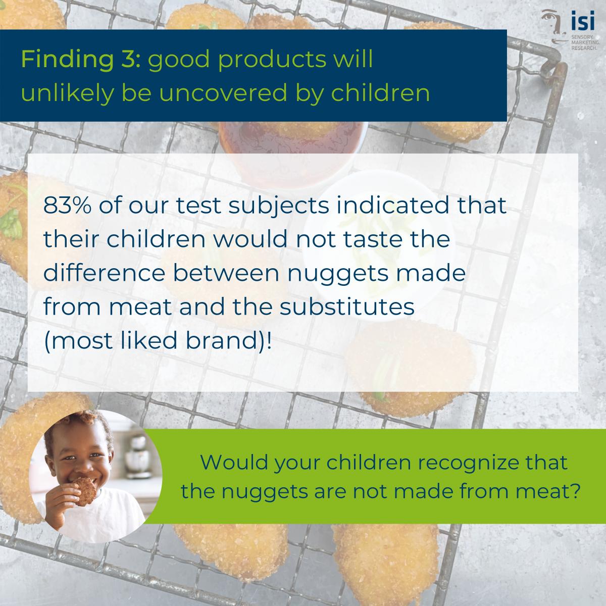 Kinder würden gute vegetarische Nuggets nicht von Fleisch-Nuggets unterscheiden