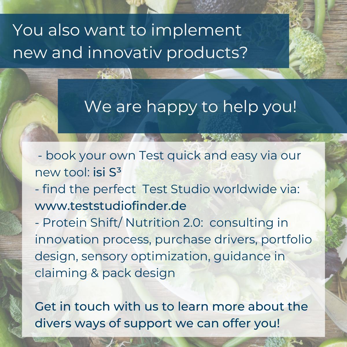 Wir helfen Ihnen gerne bei Ihrer Lebensmittel-Innovation!