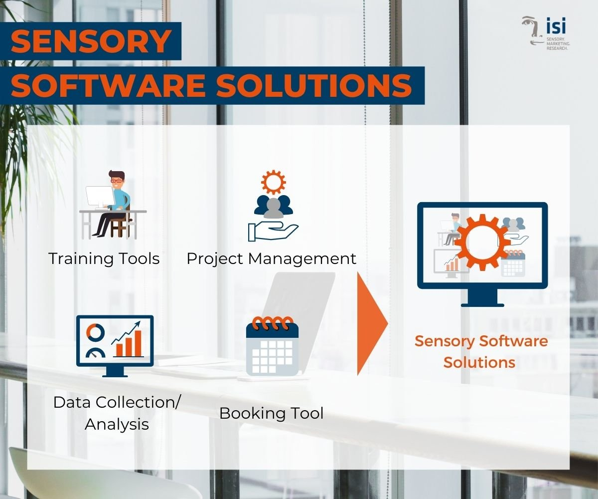 sensory software solutions can be training tools, project management, data analysis or booking tools